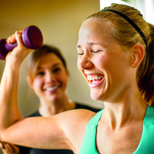 Women Exercising with Light Weights
